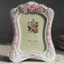 Country Style Simple Colored Polyresin Table Top Picture Frame -