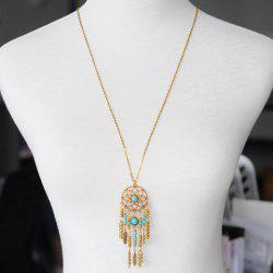 Hollow Out Tassel Pendant Sweater Chain -