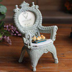 Country Style New Fruit Orange Rattan Chair Polyresin Picture Frame - GRAY