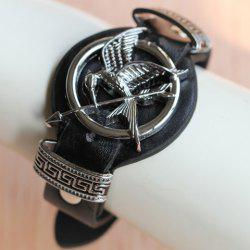 Stylish The Hunger Games Mockingbird Arrow Faux Leather Bracelet For Women -