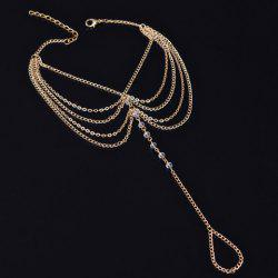 Faux Crystal Beads Layered Anklet - TRANSPARENT