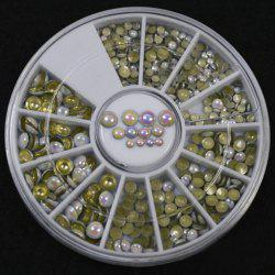 One Box Various Size Rounded Beads DIY Nail Art Decoration -