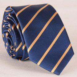 Stylish Yellow Twill Pattern Tie For Men - NAVY BLUE
