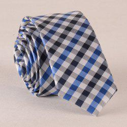 Stylish Tartan Pattern Color Splice Tie For Men - CHECKED