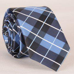 Stylish Striped Embroidery Tartan Jacquard Tie For Men -