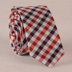 Stylish Concise Tartan Pattern Tie For Men - CHECKED