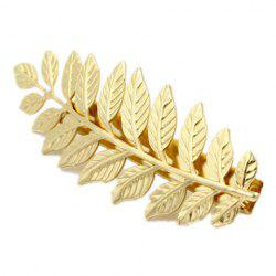 Stunning Solid Color Leaf Shape Hairpin For Women -