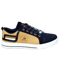 Stylish Color Block and Letters Design Men's Casual Shoes - GOLDEN