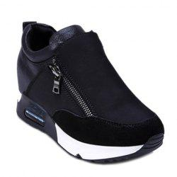 Stylish Zipper and Splicing Design Women's Athletic Shoes -