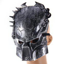 Predator Design Masquerade Carnival Halloween Mask Props for Party Use - SILVER