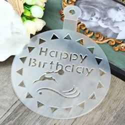 Creative DIY Cake Printing Mold Plastic Water Droplets for Decoration - WHITE
