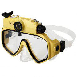 2 in 1 Design Diving Glasses Mask + Underwater Camera 720P for 30m Water Depth