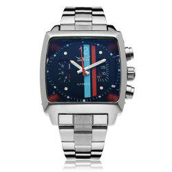 Jaragar Men Automatic Mechanical Watch with Working Sub-dials Stainless Steel Strap -