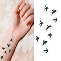 Chic Flying Bird Pattern Waterproof Tattoo Sticker For Women