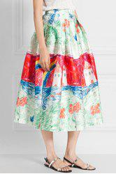 Fashionable Colorful Scrawl Print Skirt For Women
