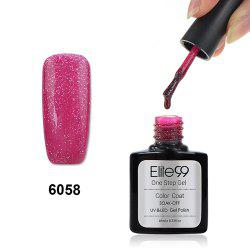 Elite99 3 in 1 Soak Off One Step Gel Polish No Need Base Top Coat UV LED Lamp - SHIMMER PLUM RED