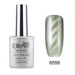 Elite99 Cat Eye 3D Magical Gel Polish Soak Off UV LED Nail Art  Manicure Salon12ml - PEARL GREYISH GREEN