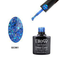 Elite99 Glitter Color Gel Soak Off Nail Polish UV LED Diamond Glitter Shimmer Effect 10ml - SAPPHIRE BLUE