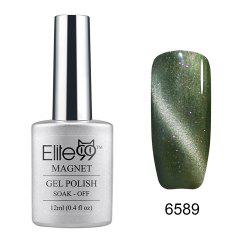 Elite99 Faire Tremper les Yeux de Chat 3D Nail Pointe UV Gel Vernis à Ongles Art Design 12 ml -