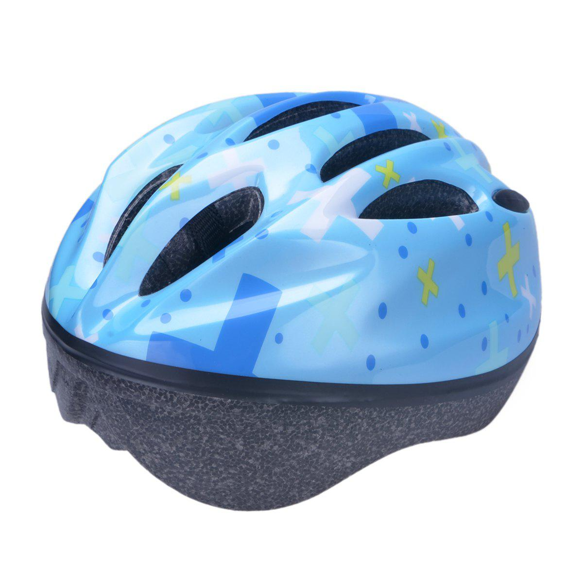 Fancy Comfortable and Safety EPS + PVC Integrally Molded Cycling Helmet for Kids ( 10 Vents )