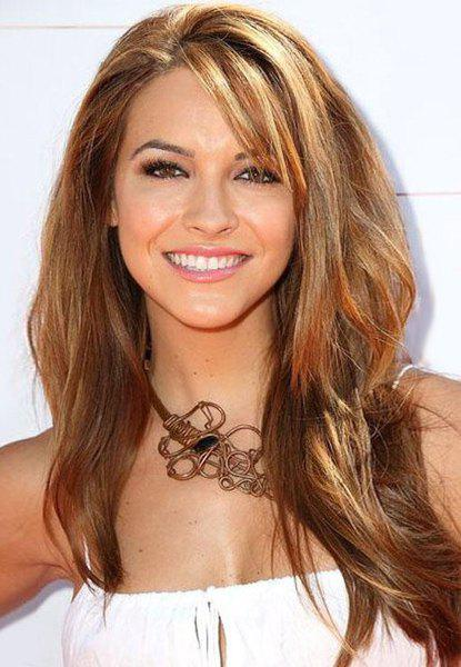 Affordable Elegant Capless Long Wavy Blonde Mixed Brown Inclined Bang Heat Resistant Fiber Women's Wig