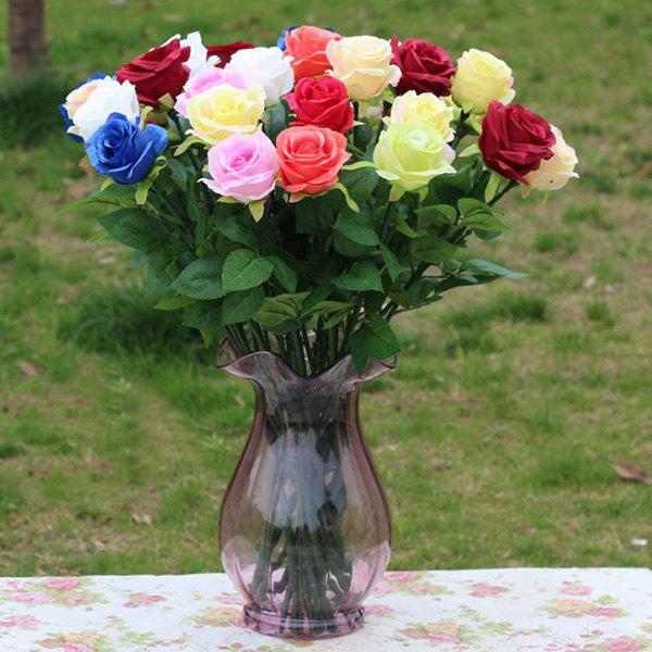 Store A Bouquet of Chic Sweet Living Room Decoration Floor Artificial Rose (No Vase)