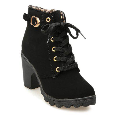 Store Chunky Heel Side Zip Ankle Boots