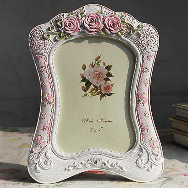 Country Style Simple Frame coloré Polyresin Table Top Image Rose Clair 5pouces*7pouces