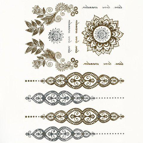 Hot Chic Ethnic Decorations Pattern Gilding Tattoo Sticker For Women