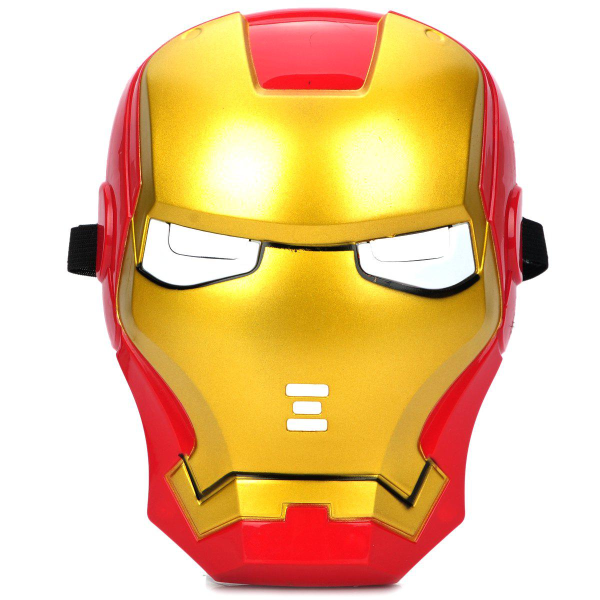 As The Picture Cosplay Iron Man Mask With Blue Lite - Up Eyes ...