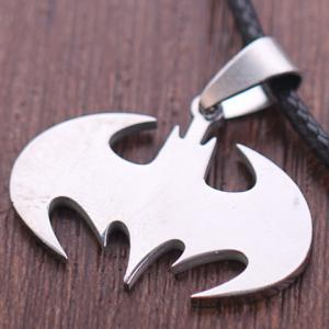 Stylish Solid Color Batman Logo Necklace -