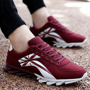 Stylish Cross and Color Block Design Men's Athletic Shoes -