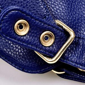 Simple Solid Color and Rivets Design Women's Shoulder Bag -