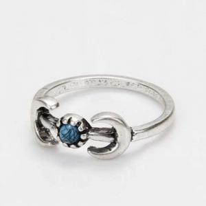 Vintage Faux Turquoise Moon Ring