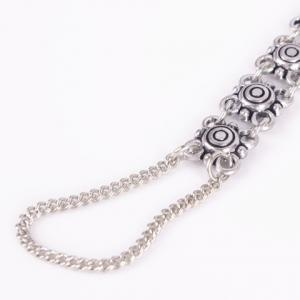 Vintage Hollow Out Flower Indian Anklet - SILVER