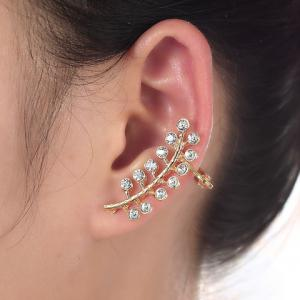 ONE PIECE RhinestoneAlloy Leaf Ear Cuff -