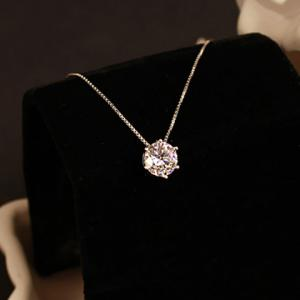 Fake Crystal Pendant Necklace - SILVER