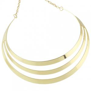 Layered Hollow Out Polished Choker Necklace -