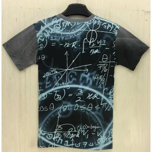 Slimming Round Neck 3D Cartoon Splicing Formula Print Short Sleeve Men's T-Shirt - BLACK XL