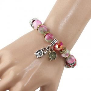 Stylish Bead Design Bracelet For Women - Colormix