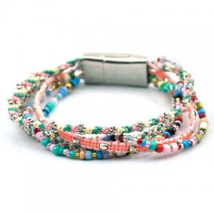 Trendy Beads Layered Magnet Clasp Bracelet For Women