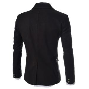 Modish Slimming Turndown Collar Single Breasted Long Sleeve Cotton Blend Blazer For Men -