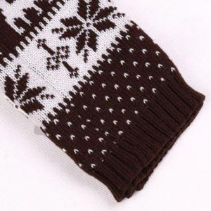Pair of Chic Snowflake and Deer Pattern Knitted Leg Warmers For Women -