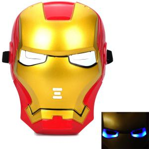 Cosplay Iron Man Mask with Blue Lite - Up Eyes Halloween Costumes -