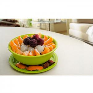 Multi-functional Drain Fruit / Vegetable Bowl Pores Bottom Storage Basket with Cover Easy Kitchen Tools -