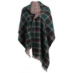 Chic Plaid Fringed Scarf For Women
