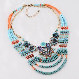 Beads Layered Round Necklace -