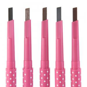 Natural Waterproof Rotating Automatic Eyebrow Pencil Cosmetic Makeup Tool - GRAY