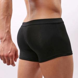 Low Waist Sexy U Pouch Design Solid Color Breathable Men's Modal Trunks -