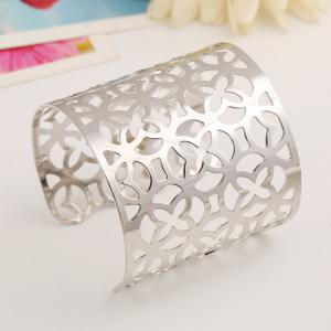 Hollow Out Flower Irregular Cuff Bracelet
